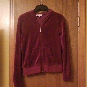 Burgundy Juicy Couture Velour Set